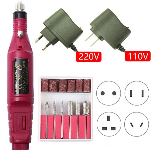 1set 20000RPM Electric Nail Drill Machine Manicure Drill Machine Pedicure Drill Professional Nail Drill Machine Salon Nail Drill
