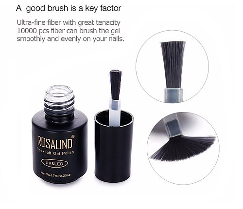 ROSALIND 7ML Professional Top Coat Soak-Off UV Gel Long-lasting Nail Art Nail Gel Polish Gel Nail Lacquer Gel Varnish