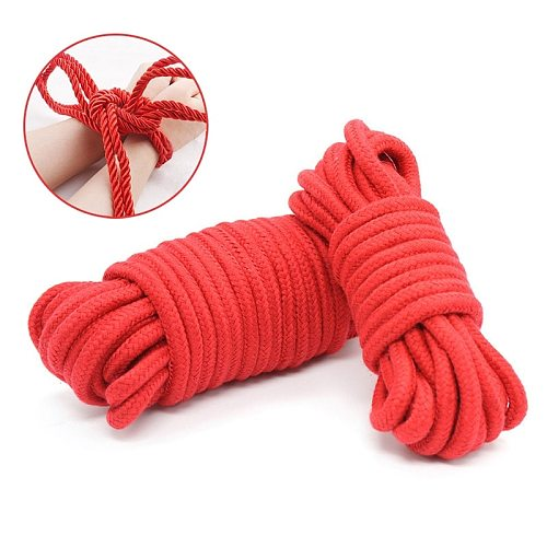 5m/10 m Cotton Rope Female Adult Sex products Slaves BDSM Bondage Soft Cotton Rope Adult Games Binding Rope Role-Playing Sex Toy
