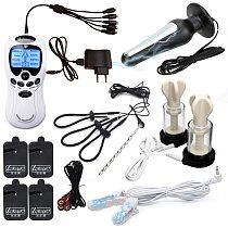 Electro Shock Anal Vaginal Plug Electric Stimulator Penis Ring Urethral Plug SM Nipple Sucker Clamps Massage Pad Medical Sex Toy