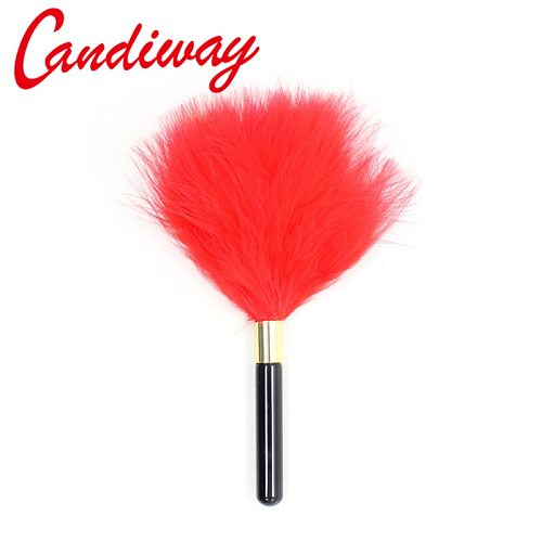 Candiway feather whips bdsm Adult Game Alternative sex toys Flirting Fetish sex Spanking Paddle Whip Flogger For Couples