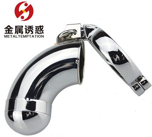 Metal male chastity lock toy fun CB lock cage elbow adult product