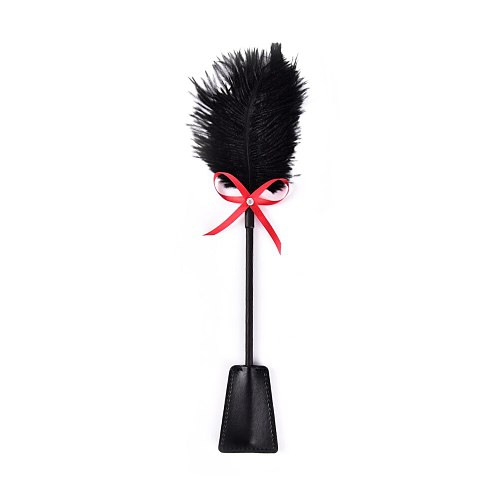 PU Leather Spanking Paddle Slap Clap Flap Whip On Butt With Flirt Tickle Feather SM Sex Adult Game Toy For Women Man Couple