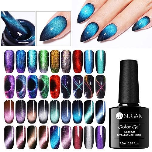 UR SUGAR 9D cat magnetic Nail UV Gel Nail Polish Sparkly Sky Magnetic Gel Polish Soak Off Semi Permanent Nails Art Polish