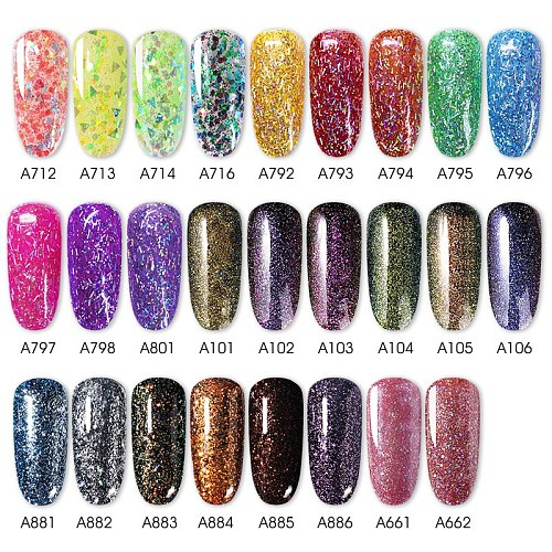 ROSALIND Gel Polish Shiny Giltter Gel Series 7ml Hybrid Varnishes All For Nail Art Design Manicure UV Gel Needed Base Top Coat