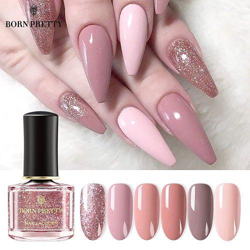 BORN PRETTY Nail Polish 7ml 73 Colors Black White Pink Rose Gold Nail Art Polish Nail Color Nail Varnish Sequins Nagellack 6ml