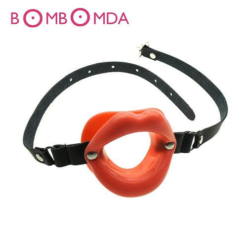 Soft Silicone Oral Fetish Open Mouth Ring Gag Ball Bondage Restraints Sex Toys For Women Slave Gag With Open Holes For Couples