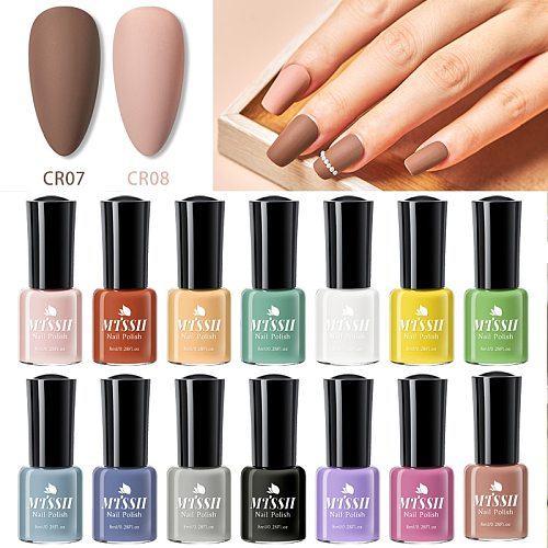 Matte Effect Fast Dry Nail Polish Gel Nude Yellow Green Color Fast Dry Nail Polish Nail Art Hybrid Long Lasting Soak Off UV Gel