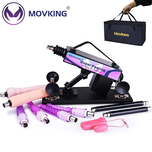 MOVKING Sex Machine Gun Automatic Masturbation Love Machines Stronger Vibrator for Women and Men Sex Products Included Handbag
