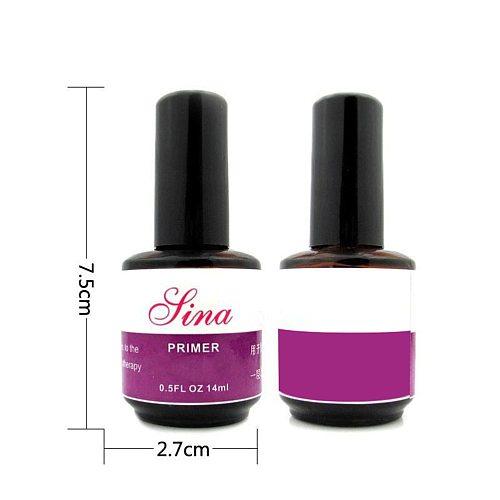 1 Bottle 14ML UV Nails Primer Base Gel Nail Gel Soak-Off Nail Art Tips Builder Nail Polish Primer
