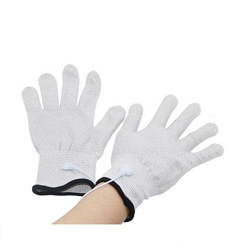 Electric Shock Kit Sex Gloves Breast Nipple Body Massage Gloves Conductive Fiber Gloves Electro Stimulation Gloves Adult Sex Toy