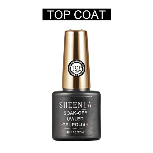 2021 New Sheenia TC025 Top Coat Gel Nail Polish UV Transparent Soak Off Primer Gel Polish Long Lasting Gel Lacquer Nail Art