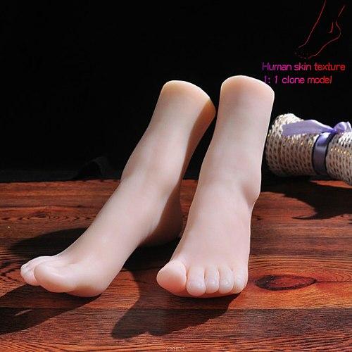 Mannequin Stockings Foot Model Silicone Lifesize Female Foot Model Rubber Plastic Art for Art Female Male Female TPE 3902