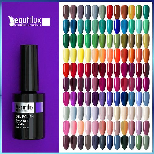 Beautilux Gel Nail Polish AC Colors Professional UV LED Salon Nails Art Gels Varnish Soak Off Semi Permanent Nail Lacquer 10ml