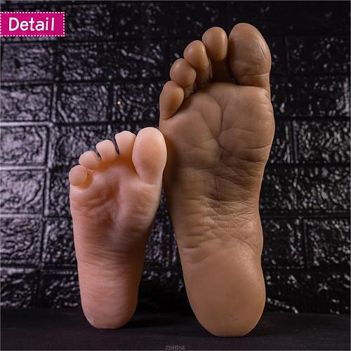 Shooting Display Props Big Male Foot Model Mannequin Fake Nail Rubber Plastic Mannequin Dummy Human Silicone Medical Shoe 4601