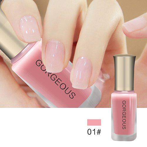 Professional New Fashion Nail Polish Art For Women Translucent  Brand Sweet Color Jelly Nail Polish