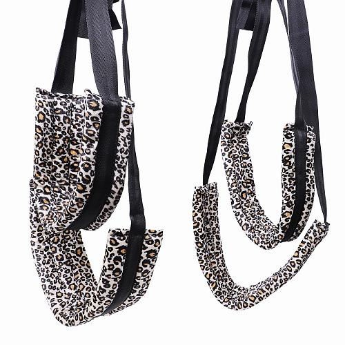 Sex Toys SM Game Bondage Swing Spreader Leg Open For Women Adult sex products sex Swing for Couple Leopard print sex swing