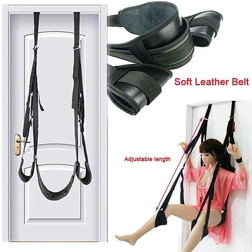 Sex Swing sex toys for couples Soft Plush BDSM Swings Belt Hanging On Door Trapeze Restraint Belt Fetish Kinky SM Slave sex game