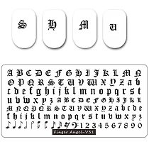 12X6cm Alphabet-01- Stamping Plate 32 Types Old English Alphabet & Numbers Stamping Plate Cute Alphabet Nail Art Stamping Plate
