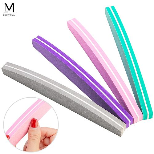 5/10pcs Nail File Nail Buffer 100/180 Sanding Buffer Block Double-sided Nail Art Sponge Professional Nail Sponge Buffing Block