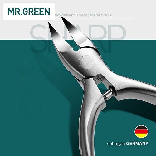 MR.GREEN High Quality Stainless Steel Super-sharp Nail Clipper For Cuticle Pusher Toenails Ingrown Pedicure  Nail Clipper