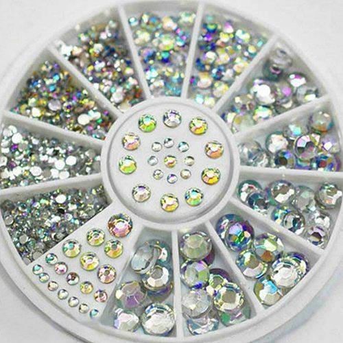 1Pcs Fashion Mixed Color Nail Art Files Dust Brush Cleaning Buffer Sponge Buffing Grit Sand UV Gel Polish Acrylic Manicure Tools