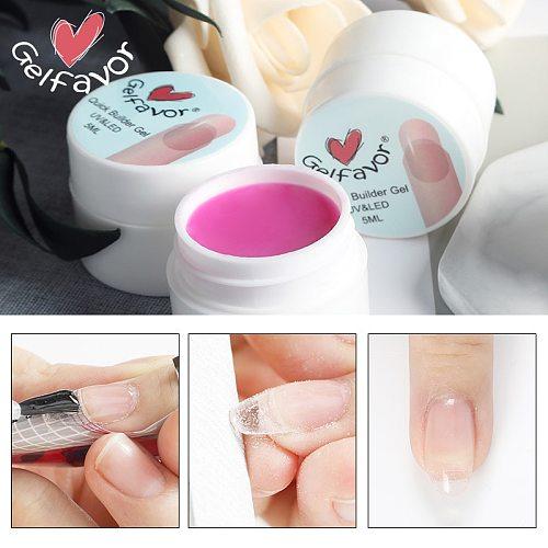 Gelfavor Gel For Nails Extension Builder Gel Manicure Set Primer Base Top Semi permanent UV Nail Gel Polish Poly Nail Gel