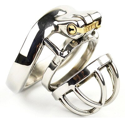 Chastity belt male male chastity stainless steel ball stretcher sex ring for men male chastity device A273