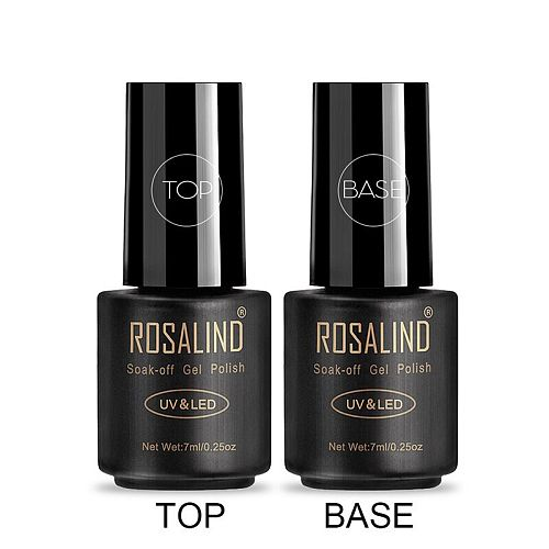 ROSALIND Gel Polish Top Coat Base Coat Shiny Long Lasting Reinforce 7ml Hybrid Varnishes Manicure UV Gel Lacquer Nail Art Primer
