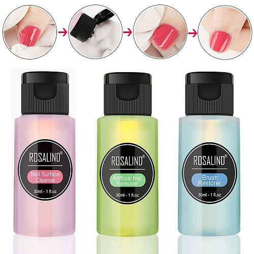 30ml Nail Degreaser Removes Excess Gel Enhances el Polish Remover Nail Art Brush Varnish Cleaner Gel Soak Off Remover 1 Bottle