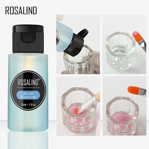 ROSALIND 30ml Brushes Cleaning Water 1PCS Nail Gel Remover Nail Art Brush Nail Art Manicure Acrylic Washing Pen Tool