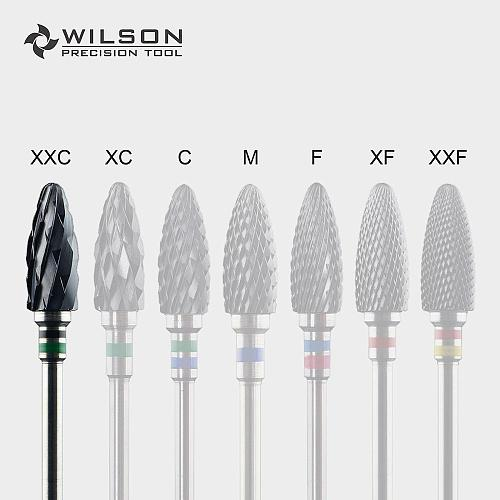 Bullet Shape - 6.0mm - Cross Cut - Black Zirconia Ceramic Dental Lab Burrs - WILSON PRECISION TOOL
