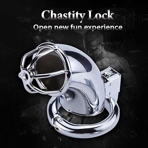 Male Chastity Device Cock Cage for Men BDSM Bondage Restraint Sex Toys Male Masturbation Adult Toys 3 Size Ring