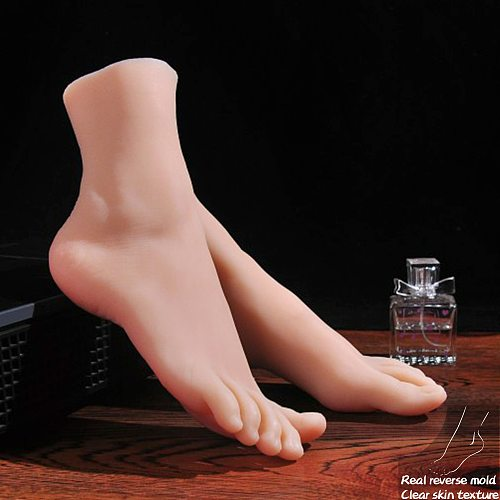 Mannequin Slender Toes Foot Model Greek Feet Shoe Socks for Art Fake Nail Display Tarsel Silicone Female Foot Fetish 3901