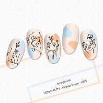 BORN PRETTY Nail Stamping Plates Portrait Flower Nail Art Board Template Steel Geometric Printing Stencil Fashion Power-L005