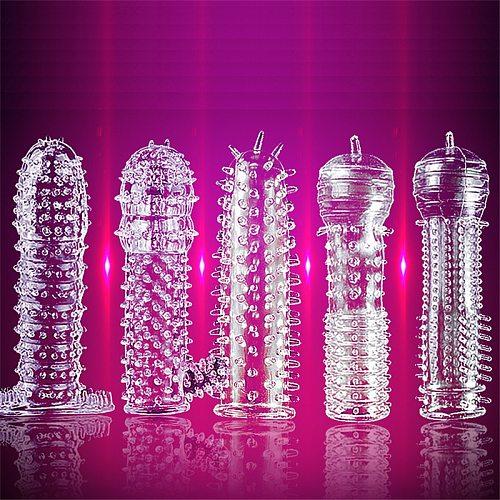 1 Pcs Men's Penis Covers Lengthen Delay Sex Products Finger Cock Ring Set Sex ToyAdult Sex Toy For Men Women Sex Toys