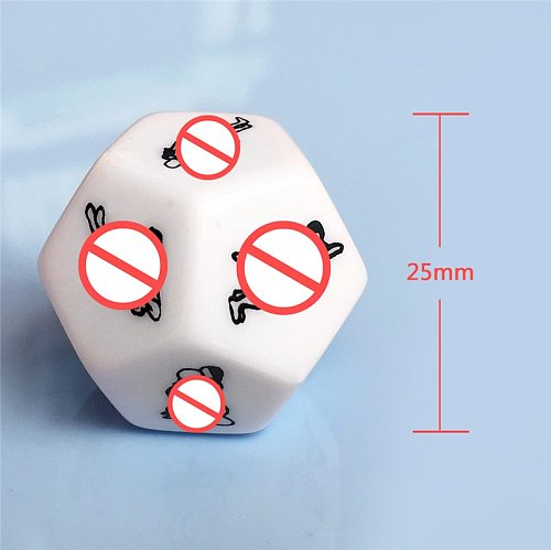 Funny Adult Games 6/12 Sides Posture Sex Couple Dice BDSM Erotic Flirt Love Posture Sex Cubes Dice Toys For Women Couples Lovers