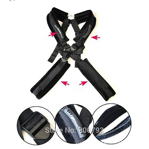 Unisex Sexy Soft Sponge Padded Sex Body Swing Sex Sling Heavy Load Fantasy Standing Sex Position Aid Sex Toy for Couples