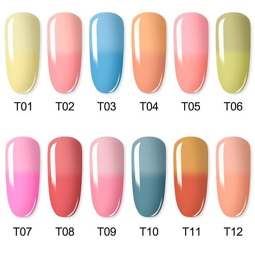 ROSALIND Gel Nail Polish Temperature Color Changing Series 7ML Nail Art Design Soak Off Gel Varnish Manicure With Base Top Coat