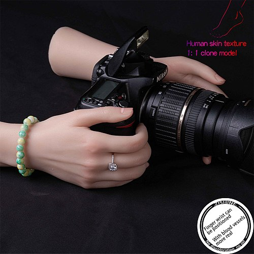 Blood Vessels Female Hand Model Fake Hand Liquid Silicone Nail for Art Display Tarsel Bone Mannequin Practice Fingers TGDW05