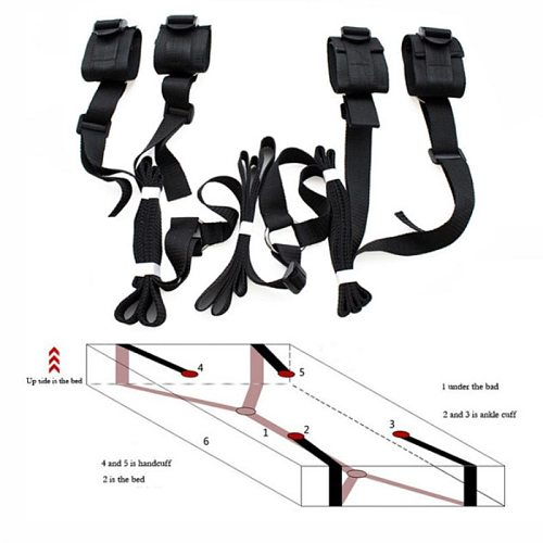 Sex Toys For Woman Men BDSM Bondage Harness Under Bed Erotic Restraint Handcuffs & Ankle Cuffs Adults Games Fetish Accessories