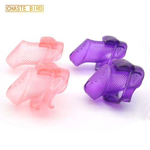 Male New Design Chastity Device Plastic Lightweight Breathable Cock Cage Adult Belt Sex Toys With Code Lock