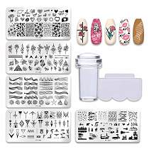 PICT YOU 12*6cm Nail Art Templates Stamping Plate Design Flower Animal Glass Temperature Lace Stamp Templates Plates Image