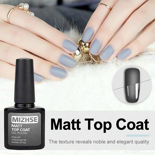 MIZHSE 10ml Matt Top Matt Nail Polish Lacquer Matte Gel Polish Top Gel Nail Mat Vernis Matte Top Coat UV Gel Nail Primer Top Gel