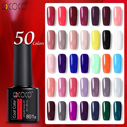 NoWipe Top Coat Matt Primer Base Coat Gel Plastic Bottle GDCOCO Nail Gel Polish Gel Varnish Soak Off UV LED Gel Nail Gel Lacquer