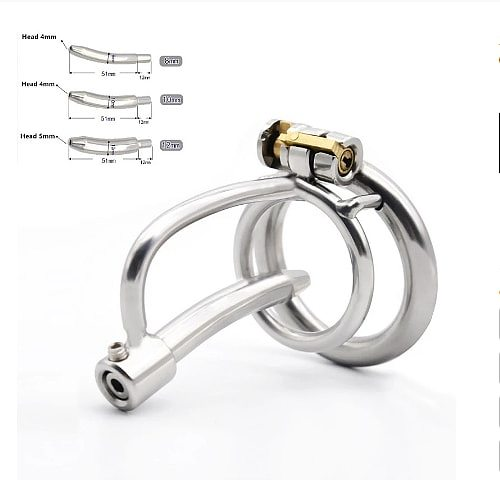 2020 New 316 Stainless Steel Male Chastity Device Cock Cage With Metal Catheter (8-10-12mm) BDSM Sex Toys Chastity Belt For Men