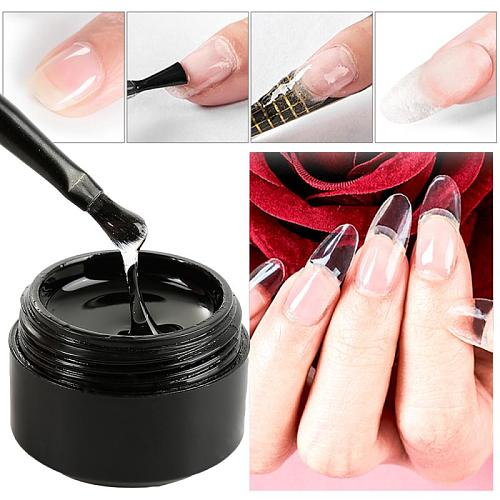 Cracked Nail Repair Gel Fiberglass Extension Building UV Gel Varnish Broken Nails Repair Soak Off UV Gel Nail Extension Tools