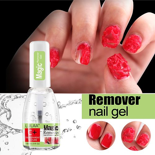 LULAA Magic Nail Gel Remover UV Gel remover Nail Polish Remover Degreaser Liquid Remove Sticky Layer Manicure Tools 15ml