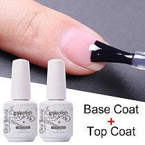 No Wipe Top Coat Base Coat Primer UV Gel Nail Art Tips Manicure Gel Nail Polish Color Gel Polish esmalte semi permanente