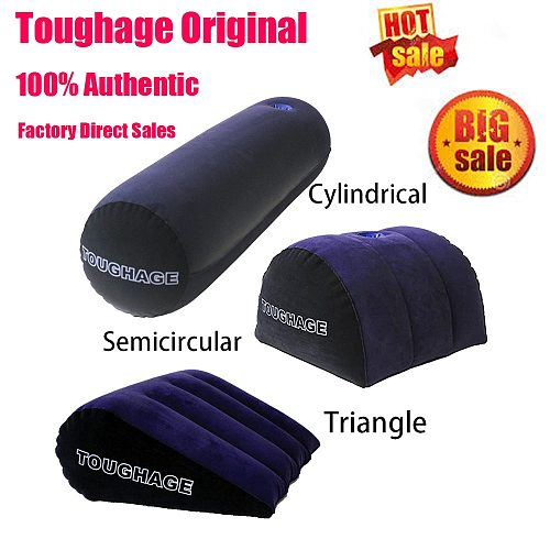 Inflatable Sex Pillow Bolster Round Magic Cushion Hot Sexy Positions Sex Toys For Women Couple Positioning For Deeper Supportive
